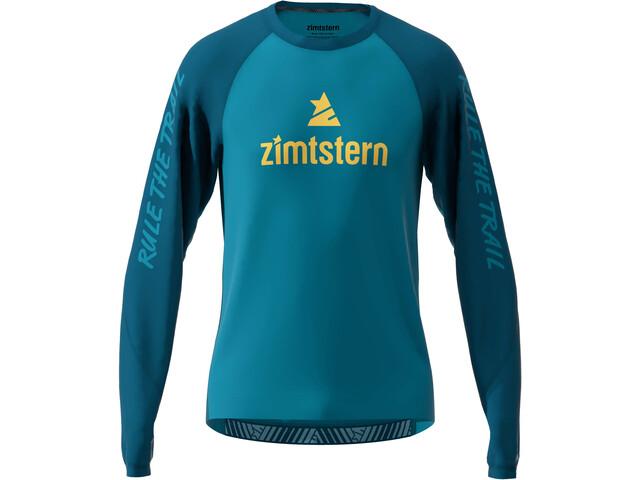 Zimtstern PureFlowz Longsleeve Heren, blue steel/french navy/mimosa